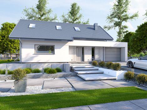 DomPasja 56 - projekt domu z poddaszem użytkowym