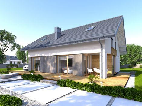 Faro - projekt małego domu z poddaszem użytkowym