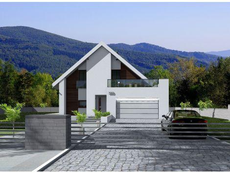 Denver - projekt domu z poddaszem użytkowym