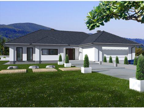 Madera - projekt domu parterowego z garażem dwustanowiskowym