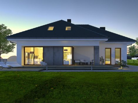 Torino - projekt domu z poddaszem użytkowym