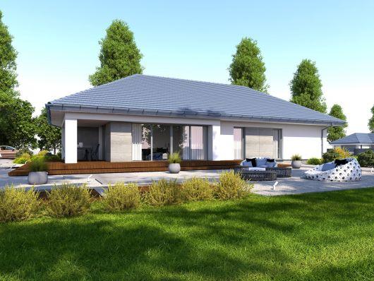 Dompasja 55 -projekt nowoczesnego domu parterowego