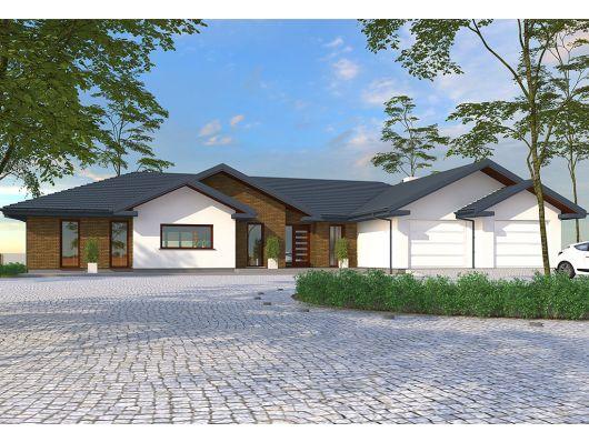Madera 3 - projekt domu z podziałem na strefy